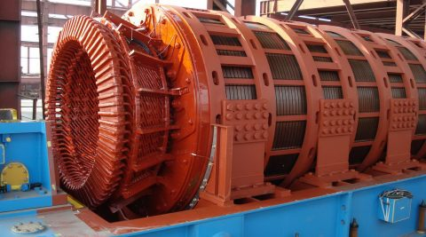 Construction of gas-turbine power station