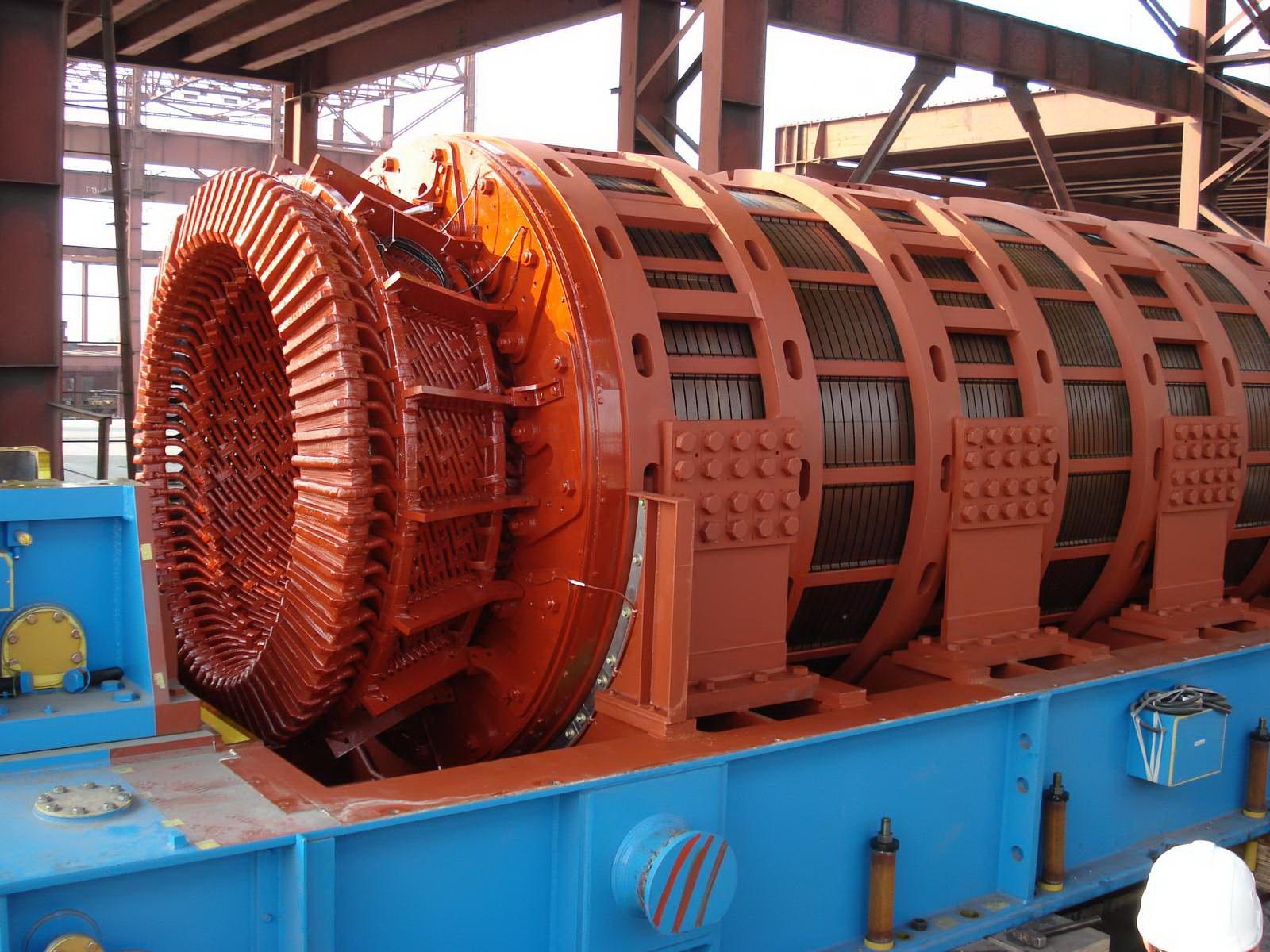 Строительство газотурбинной электрической станции